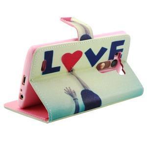 Obrázkové koženkové puzdro pre mobil LG G3 - love - 3