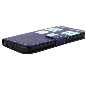 Obrázkové koženkové puzdro pre mobil LG G3 - policie - 3