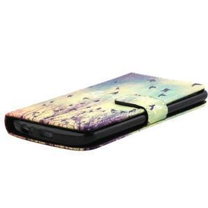 Obrázkové koženkové puzdro pre mobil LG G3 - lietajúce vtáčiky - 3