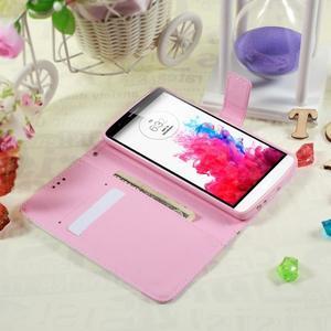 Motive koženkové puzdro pre LG G3 - fialový kvet - 3