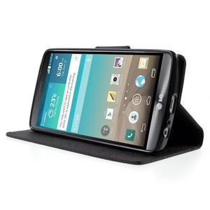 Cross PU kožené puzdro pre LG G3 - čierne - 3