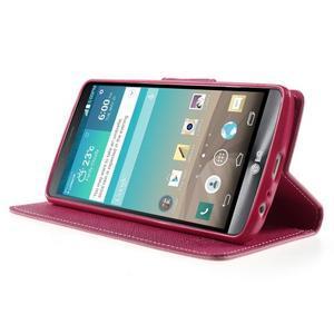 Cross PU kožené pouzdro na LG G3 - růžové - 3