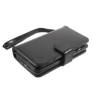 Patrové peněženkové pouzdro na mobil LG G3 - černé - 3