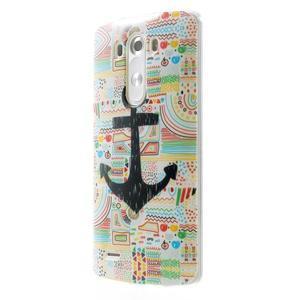 Gélový kryt pre mobil LG G3 - kotva - 3