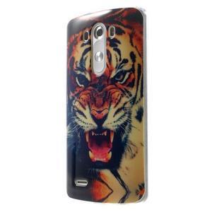 Gélový kryt pre mobil LG G3 - tygr - 3