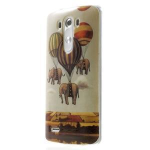 Gélový kryt pre mobil LG G3 - sloni - 3