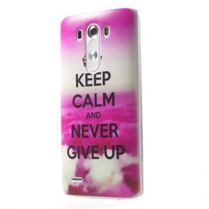 Silks gelový obal na mobil LG G3 - Keep Calm - 3