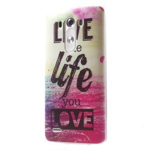 Silks gelový obal na mobil LG G3 - love - 3