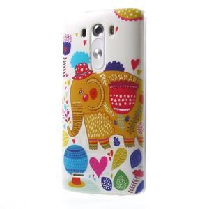 Silks gélový obal pre mobil LG G3 - slon - 3