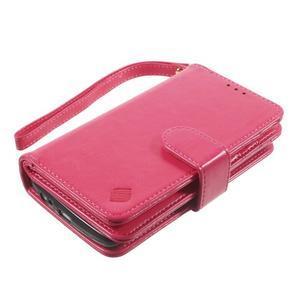 Patrové peňaženkové puzdro pre mobil LG G3 - rose - 3