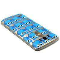Průhledný gelový obal na LG G3 - modré sovičky - 3/6