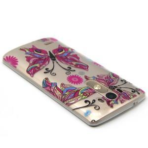 Priehľadný gélový obal pre LG G3 - farební motýľe - 3