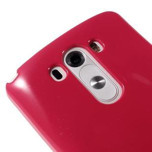 Odolný gelový obal na mobil LG G3 - rose - 3
