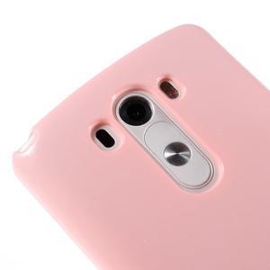 Odolný gélový obal pre mobil LG G3 - ružový - 3