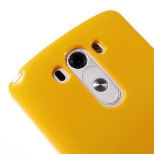 Odolný gelový obal na mobil LG G3 - žlutý - 3