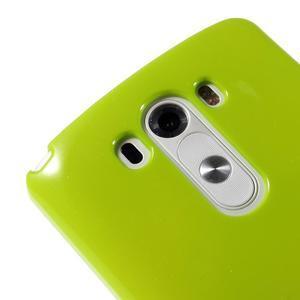 Odolný gélový obal pre mobil LG G3 - zelený - 3