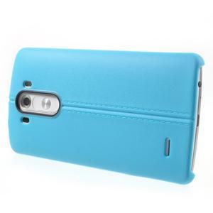 Lines gelový kryt na mobil LG G3 - modrý - 3