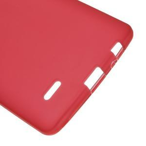 Matný gélový obal pre LG G3 - červený - 3