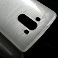 Brush gelový obal na LG G3 - bílý - 3/5
