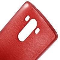 Brush gélový obal pre LG G3 - červený - 3/4
