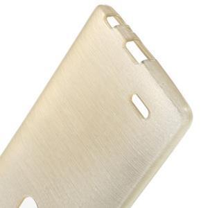 Brush gélový obal pre LG G3 - champagne - 3