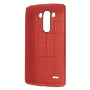 Silks gélový obal pre LG G3 - červený - 3