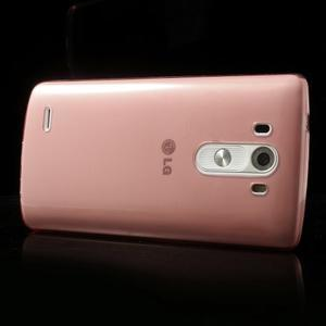 Ultratenký slim obal na mobil LG G3 - červený - 3