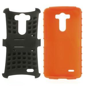 Outdoor odolný obal na mobil LG G3 - oranžový - 3