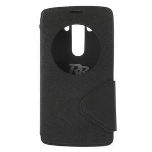 Diary puzdro s okienkom na mobil LG G3 - čierne - 3