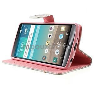 Zapínacie peňaženkové puzdro pre LG G3 s - láska - 3