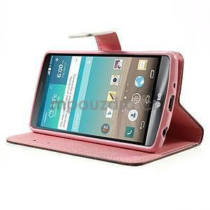 Zapínací peňaženkové puzdro pre LG G3 s - zamilovaní ptáčci - 3