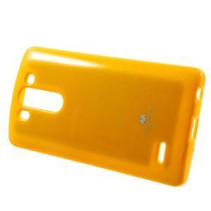 Odolný gélový obal na LG G3 s - oranžový - 3