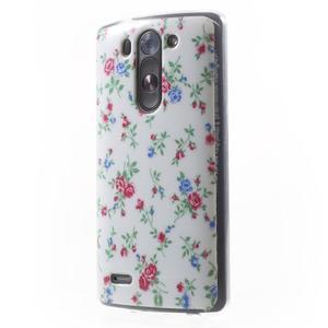 Gélový obal na LG G3 s - kytičky - 3
