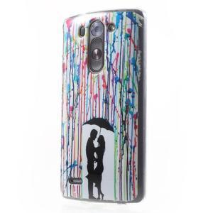 Gélový obal na LG G3 s - láska pod deštníkem - 3