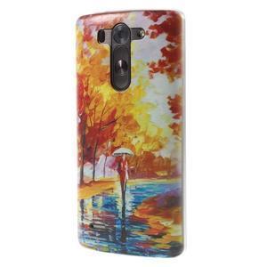 Ultra slim 0.6 mm gélový obal LG G3 s - jesenné precházka - 3