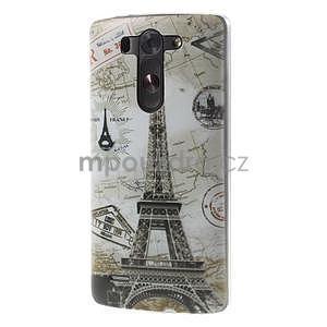 Ultra slim 0.6 mm gélový obal LG G3 s - Eiffelova veža - 3