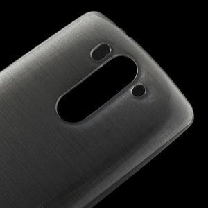 Broušený gélový obal na LG G3 s - šedý - 3