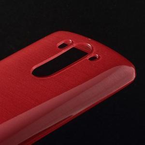 Brúsený gélový obal pre LG G3 s - červený - 3