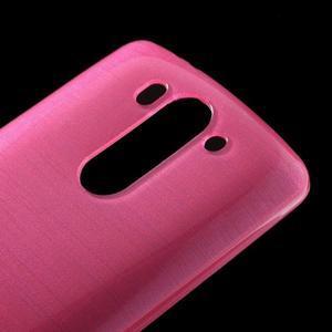 Broušený gélový obal na LG G3 s - rose - 3