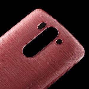 Broušený gélový obal na LG G3 s - růžový - 3