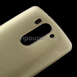 Broušený gélový obal na LG G3 s - zlatý - 3