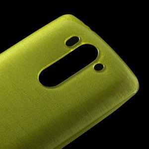Broušený gélový obal na LG G3 s - zelený - 3