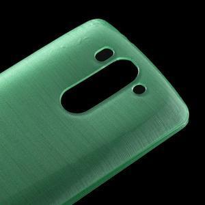 Brúsený gélový obal pre LG G3 s - azurový - 3