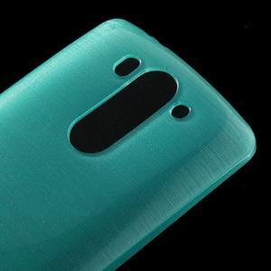 Broušený gélový obal na LG G3 s - tyrkysový - 3