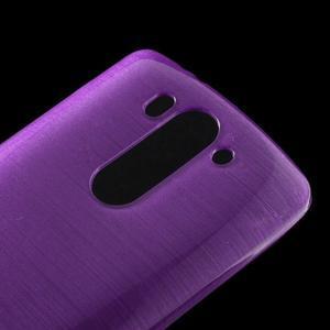Brúsený gélový obal pre LG G3 s - fialový - 3