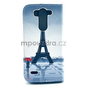 Peňaženkové puzdro na LG G3 s -  Eiffelova veža - 3