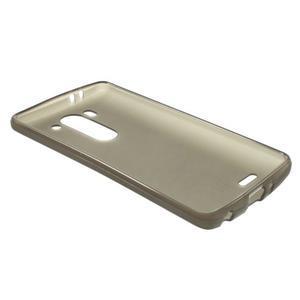 sivý matný gélový kryt LG G3 s - 3