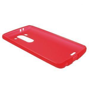 Červený matný gélový kryt LG G3 s - 3
