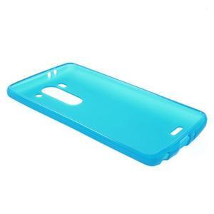 Světle modrý matný gélový kryt LG G3 s - 3