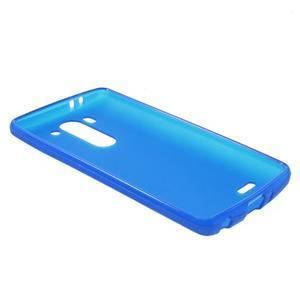 Modrý matný gélový kryt LG G3 s - 3